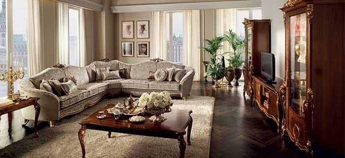 arredoclassic donatello divano angolare composizione tv completa